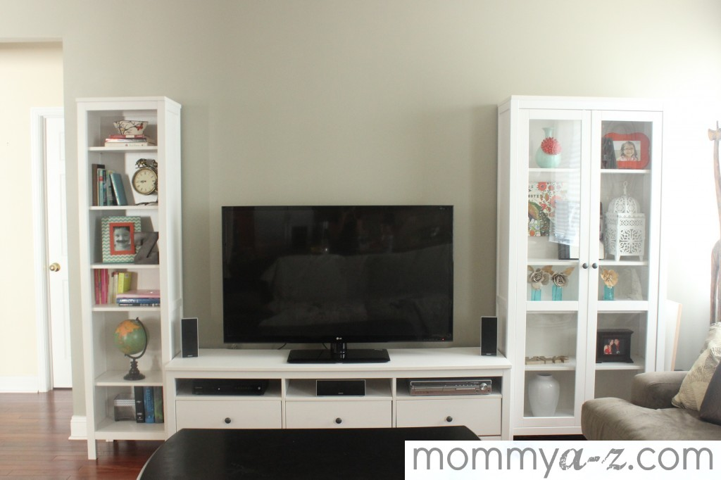 Entertainment Unit Decor - Update - Mommy A-Z